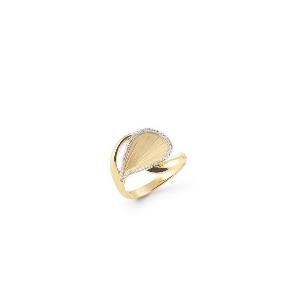 Annamaria Cammilli Ring Yellow Sunrise Gold 18 Karat Gelbgold mit Diamanten Goccia GAN2006U | UHREN01