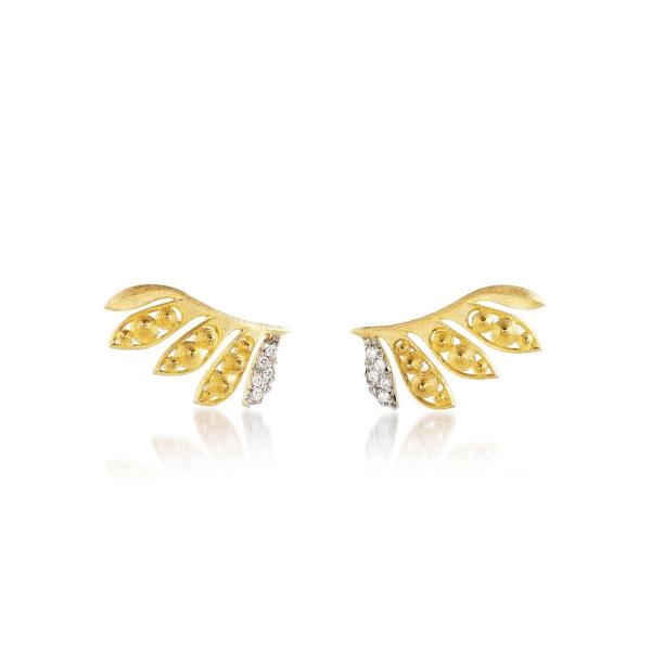 Luisa Rosas Ohrringe Gold mit Diamanten Luz LRLZ190