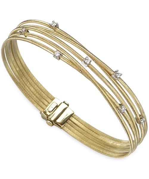 Marco Bicego Armband Gold mit Diamanten 5 Stränge Goa BG618 B YW