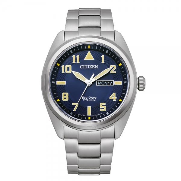 Citizen Herren Uhr BM8560-88LE Blau Super Titanium Eco-Drive