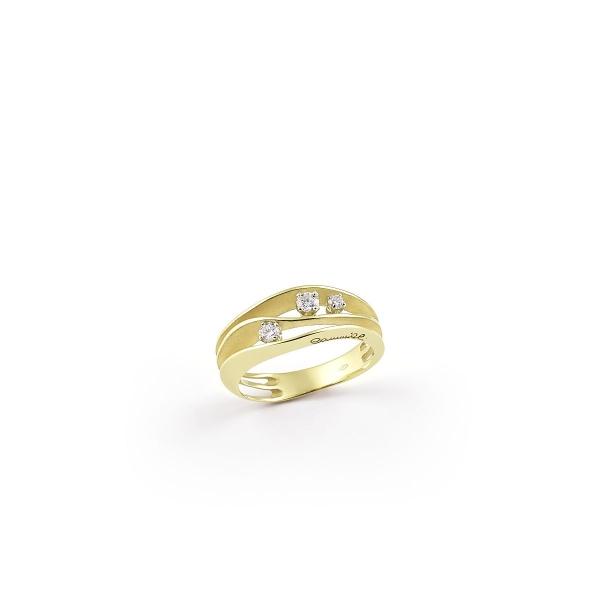 Annamaria Cammilli Ring Dune aus Lemon Bamboo Gold mit 3 Diamanten GAN2662Y | UHREN01