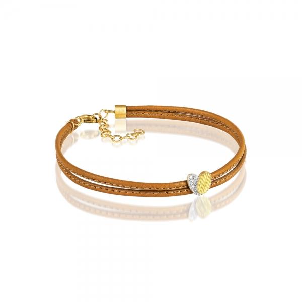 Luisa Rosas Armband Leder Gold Diamanten BE LRBE506