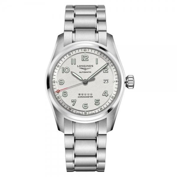 Longines Spirit Automatik Herrenuhr 40mm Silber Edelstahl-Armband L3.810.4.73.6