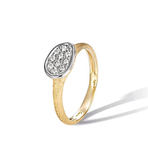 Marco Bicego Ring Gold mit Diamanten Pavé Lunaria Mini AB622 B YW