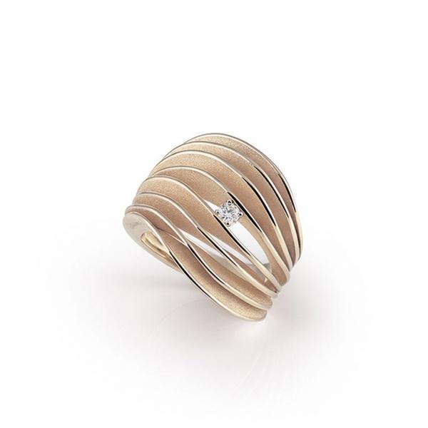 Annamaria Cammilli Ring Natural Beige Gold mit Diamanten Dune Velaa GAN3151N