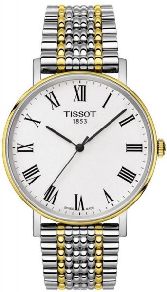 Tissot Everytime Medium 38 mm bicolor römische Ziffern T109.410.22.033.00