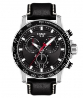 Tissot Supersport Chrono Quarz 45mm Schwarz Leder-Armband Chronograph Herren T125.617.16.051.00