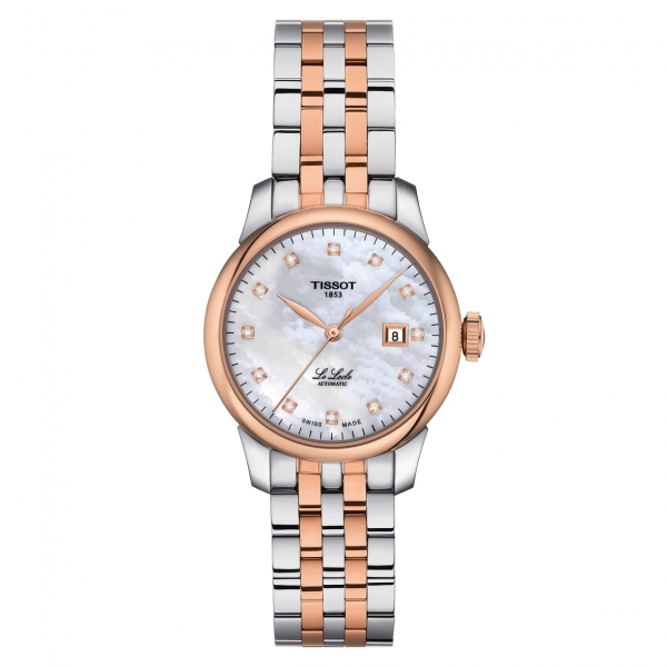 Tissot Le Locle Automatic Damenuhr Bicolor Rosegold Perlmutt mit Diamanten 29mm T006.207.22.116.00