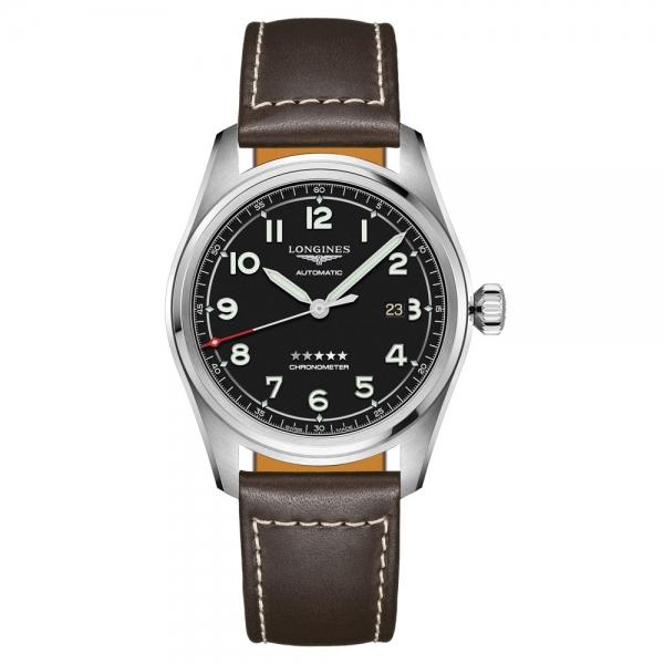 Longines Spirit Automatic 42mm Schwarz Lederarmband L3.811.4.53.0 | Uhren01