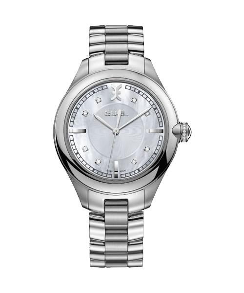 Ebel Damenuhr mit Diamanten silber Perlmutt Zifferblatt 36mm Quarz Ebel Onde 1216136 | Sale | UHREN01