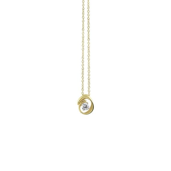 Annamaria Cammilli Halskette Lemon Bamboo Gold 18 Kt Anhänger mit Diamanten Dune Assolo GPE1547Y | UHREN01