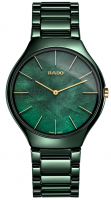 Rado True Thinline Leaf R27006912 grüne Keramik-Uhr