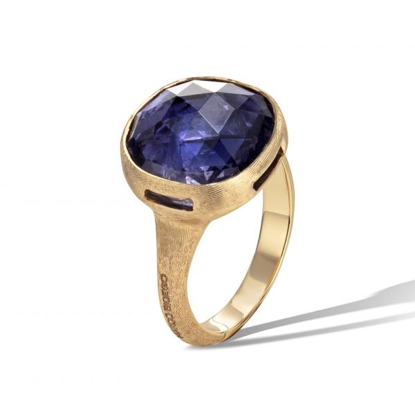 Marco Bicego Ring mit Iolit Edelstein Gold 18 Karat Jaipur Color AB617 IO01 Y