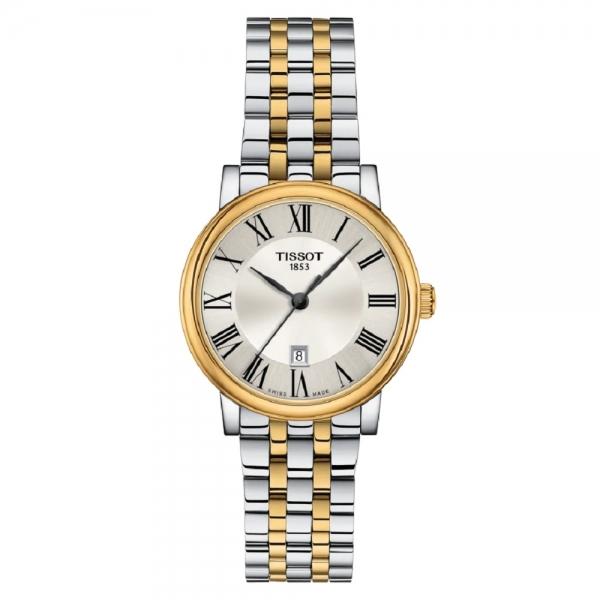 Tissot Carson Premium Lady Damenuhr 30mm Bicolor Edelstahl-Armband Quarz T122.210.22.033.00 | UHREN01