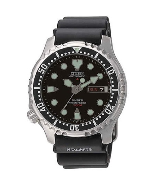 Citizen Taucheruhr Automatik Herren schwarz Promaster Diver NY0040-09E