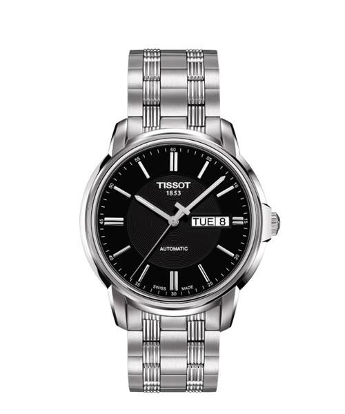 Tissot Automatics III Herrenuhr 40mm Zifferblatt schwarz Edelstahl-Armband T065.430.11.051.00