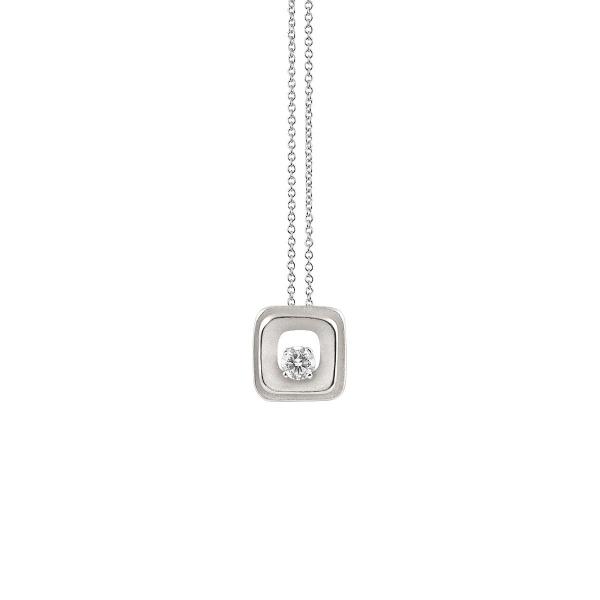 Annamaria Cammilli Halskette White Ice Weißgold Anhänger mit Diamanten My Way GPE2667W | UHREN01