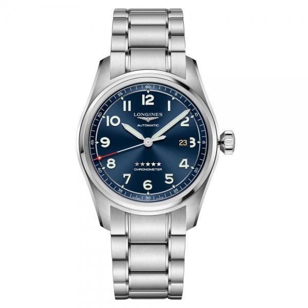 Longines Spirit Automatic 42mm blau/silber mit Edelstahl-Armband L3.811.4.93.6 | Uhren01