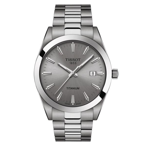 Tissot Gentleman Titanium Herrenuhr Quarz 40mm Grau T127.410.44.081.00