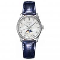 Longines Master Collection Damenuhr Automatic Diamanten Mondphase Perlmutt Leder L2.409.4.87.0