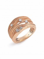 Annamaria Cammilli Damen Ring Essential Dune aus 750er rose Gold mit Brillanten 0,28ct GAN0914J