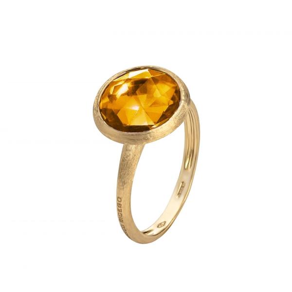 Marco Bicego Ring mit Citrin Edelstein Gold 18 Karat Jaipur Color AB586 QG01 Y