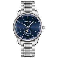 Longines Master Collection 42mm Mondphase Blau Edelstahl-Armband L2.919.4.92.6