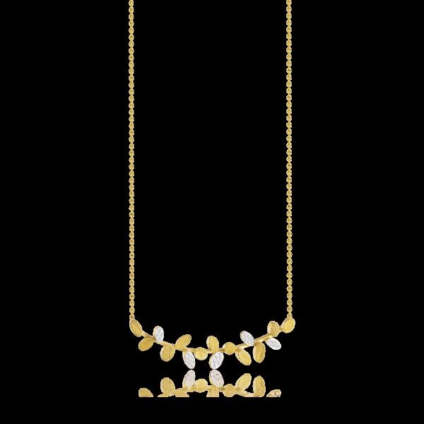 Luisa Rosas Halskette Gold mit Diamanten S BE LRBE128
