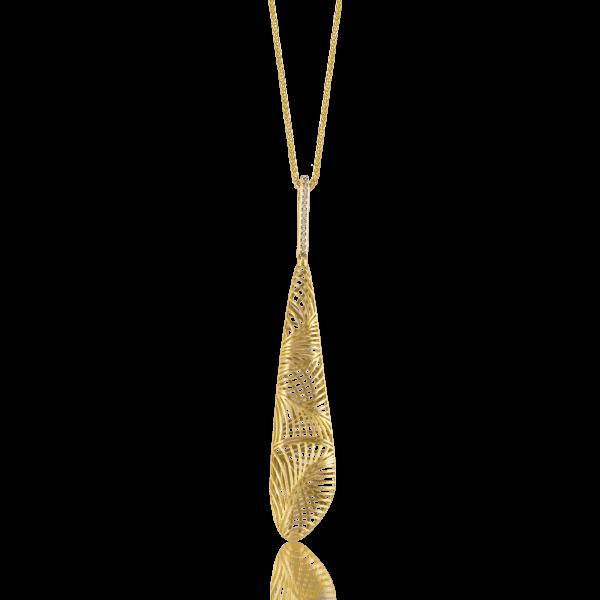 Luisa Rosas Halskette mit Anhänger Gold mit Diamanten Tribe LRTR076