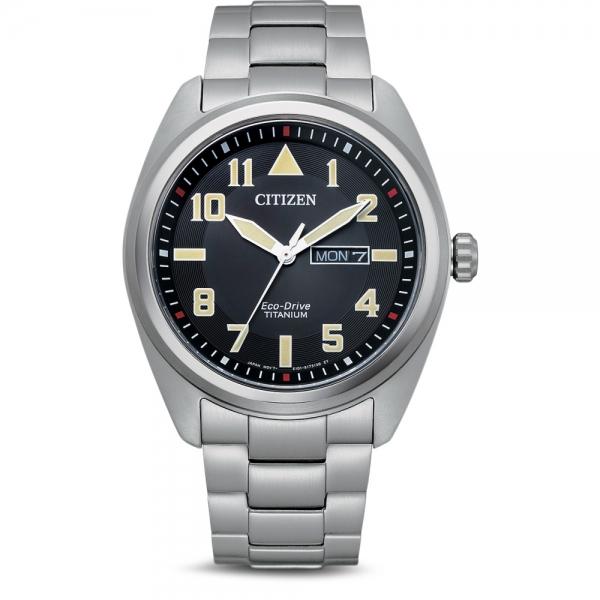 Citizen Herren Uhr BM8560-88EE Schwarz Super Titanium Eco-Drive