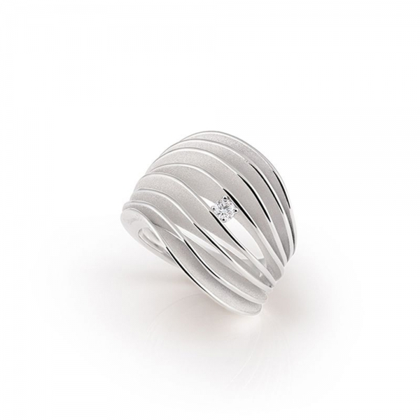 Annamaria Cammilli Ring Weißgold White Ice Gold mit Diamanten Dune Velaa GAN3151W