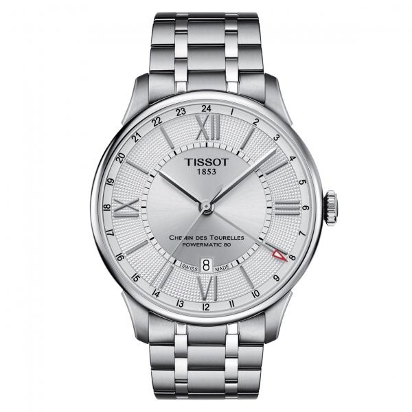 Tissot Chemin des Tourelles GMT Powermatic 80 Uhr Herren Automatic Silber T099.429.11.038.00 | UHREN01