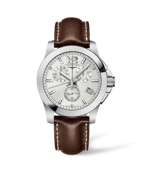 Longines Conquest Herren Chronograph 41mm Silbernes Zifferblatt L3.660.4.56.3