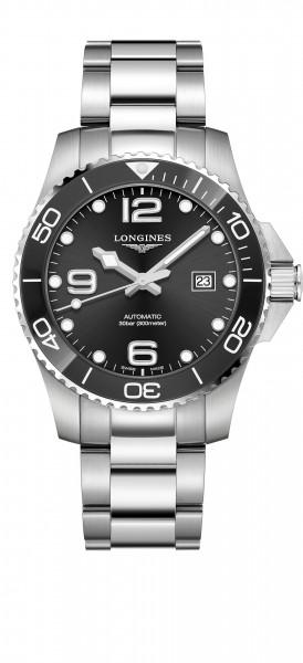 Longines HydroConquest 43mm schwarz Automatik Herren Uhr Edelstahl-Armband L3.782.4.56.6 zum günstigen Preis online kaufen | UHREN01