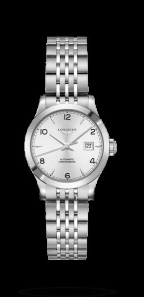 Longines Record Damenuhr Automatic silber 30mm Edelstahl-Armband L2.321.4.76.6 zum günstigen Preis online kaufen | UHREN01