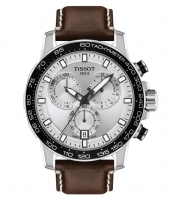 Tissot Supersport Chrono 45mm Silber Leder-Armband Braun Quarz Chronograph T125.617.16.031.00 | UHREN01