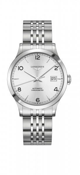 Longines Record Automatic 38mm Herren-Uhr Edelstahl silber L2.820.4.76.6 zum günstigen Preis online kaufen | UHREN01