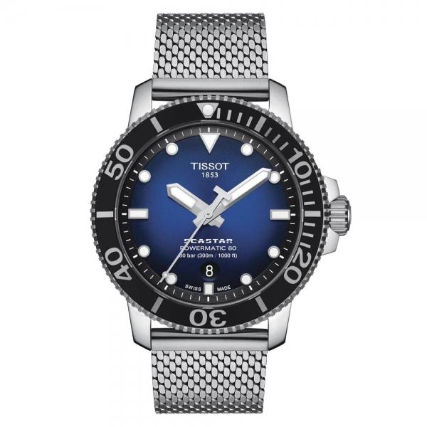 Tissot Seastar 1000 Powermatic 80 Blau Milanese-Armband Automatik 43 mm T120.407.11.041.02
