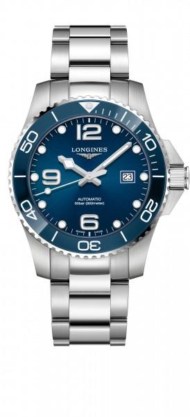 Longines HydroConquest 43mm blau Keramik Automatik Herren Uhr L3.782.4.96.6 zum günstigen Preis online kaufen | UHREN01