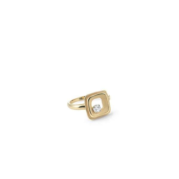 Annamaria Cammilli 750er Gelb Gold Damen Ring MY WAY mit 1 Diamant im Brillant-Schliff 0,15ct GAN2423U