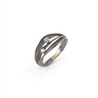 Annamaria Cammilli Ring DUNE aus 750er Black Lava Schwarzgold mit 2 Brillanten GAN1941E