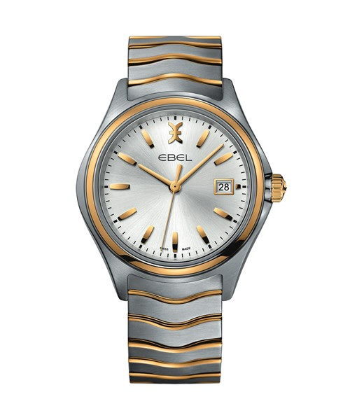 Ebel Herrenuhr 40mm Bicolor Gold Quarz Uhr Ebel Wave Gent 1216202 | Sale | UHREN01