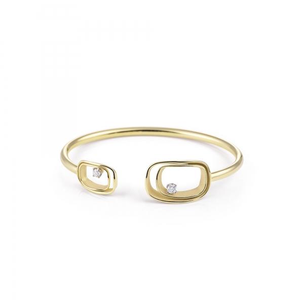 Annamaria Cammilli Armband 18 Karat Lemon Bamboo Gold & Diamanten Armspange Serie Uno GBR2791Y | UHREN01