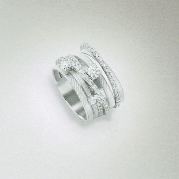 Marco Bicego Damen Ring GOA aus 18kt Weißgold mit Diamanten AG316-B B5