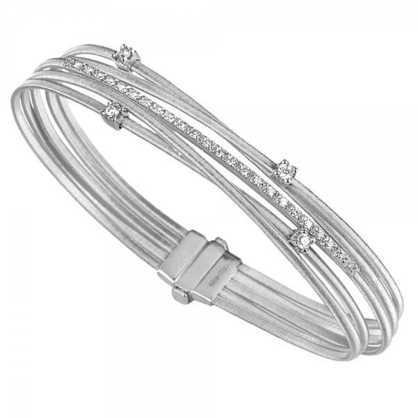 Marco Bicego Armband Goa Weißgold mit Diamanten 5 Stränge BG618 B2 W