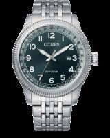 Citizen Eco-Drive Sports Herren Uhr Quartz Zifferblatt dunkle blau & Edelstahl-armband BM7480-81L | UHREN01