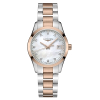 Longines Conquest Classic Damen Bicolor Perlmutt Diamanten 34 mm Quarz L2.386.3.87.7