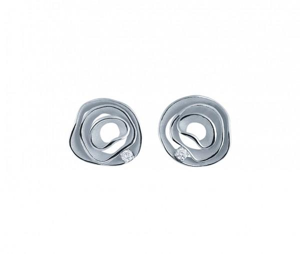 Annamaria Cammilli Damen Ohrringe DUNE aus 18 Karat Weiß Gold mit Diamanten GOR2443W