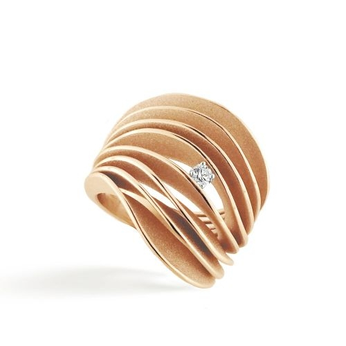 Annamaria Cammilli Ring Orange Apricot Gold 18 Karat Diamantring Serie Uno GAN3151J | UHREN01