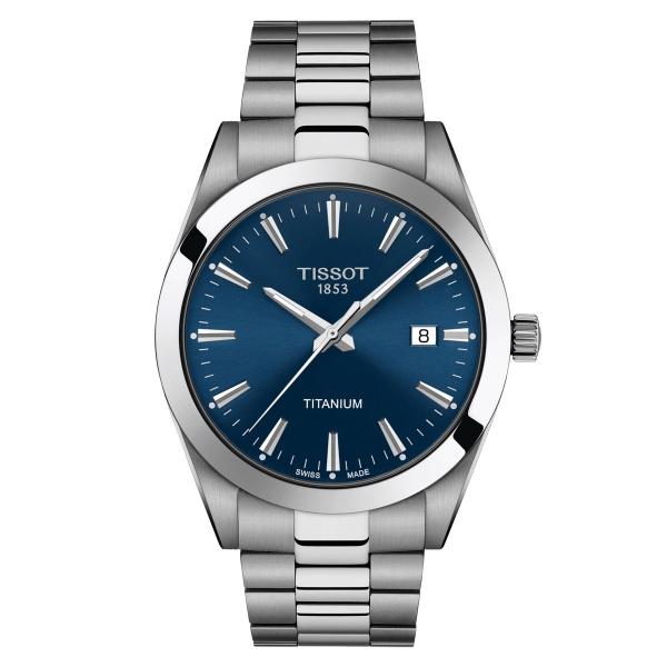 Tissot Gentleman Titanium Herrenuhr Quarz 40mm Blau T127.410.44.041.00